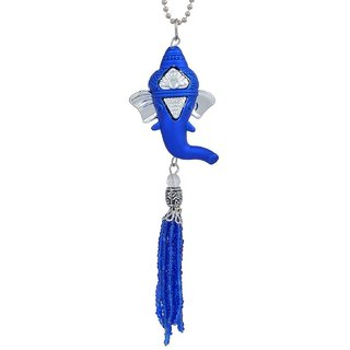 Memoir Blue Ganesh Vinayak Ganpati tassle pendant for Men and Women