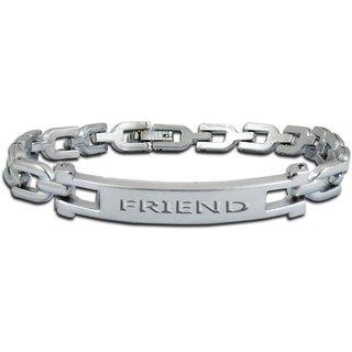 Factorywala Silver Plated Friend Bracelet For Women