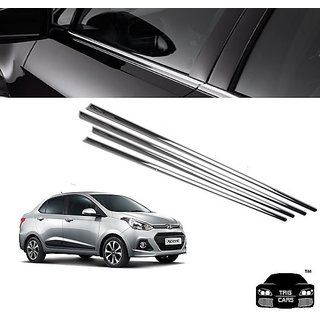 Buy Trigcars Hyundai Xcent Car Window Lower Garnish Chrome Online