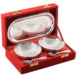 Indian Silver Plated Brass Bowl Set With Beautiful Box Packing