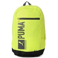 Puma Yellow Polyester Casual Backpacks