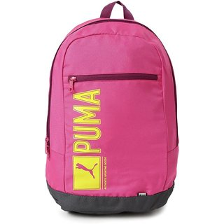 Buy Puma Pink Casual Backpacks Polyester Backpack Online - Get 49% Off fb6003e1de84e