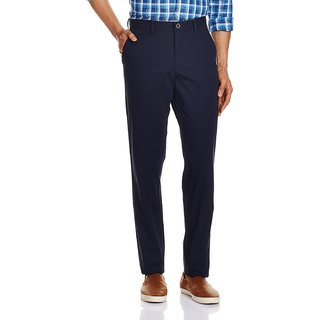 Men's Casual Trousers Navy Blue