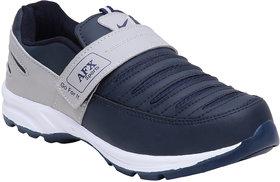 Aerofax Mens n blue light gray   slip on running shoes