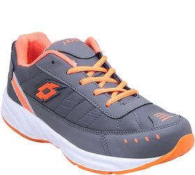 Smartwood Gray Orange Mesh EVA Lace Up Training Shoes For Men