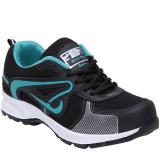 Aerofax Mens black c green lace up Training shoes