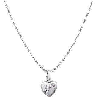 Luxor Silver Alloy Party Silver Plated Contemporary Pearl Pendant With Chain Only