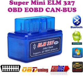 Gadget Hero's Mini ELM 327 v2.1 Bluetooth EOBD 2 CAN-BUS OBD2 CAR Reader Scanner