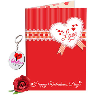 Buy Sky Trends Valentine Gift For Boy Lovely Greeting Card Keychain
