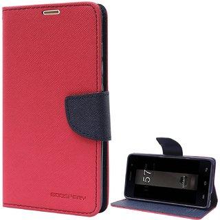 Samsung Galaxy Grand Prime SM-G530H Mercury Goospery Fancy Diary Wallet Flip Cover Case (RED)