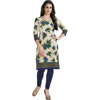 Pari Multicolor Kurta Material Printed Cotton Dress Material (Unstitched)