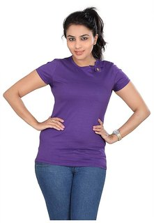 Misscutey  Royallook Womens Purple  Top