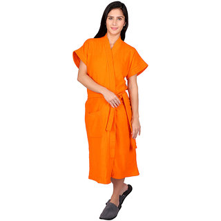 Vixenwrap Orange Solid Bath Robe