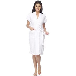 Vixenwrap Crisp White Solid Bath Robe