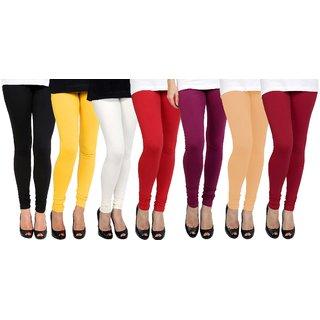 Multicolor Cotton Lycra Plain Legging (7)
