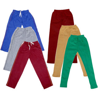 IndiWeaves Girls 3 Cotton Lower and 3 Cotton Legging ( Pack of 6)