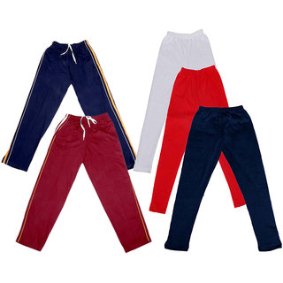 IndiWeaves Girls 2 Cotton Lower and 3 Cotton Legging ( Pack of 5)