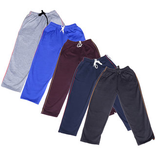 IndiWeaves Boys Premium Cotton Warm Full Length Lower/Track Pant with 2 Open Pocket For Winter (Pack of -5)