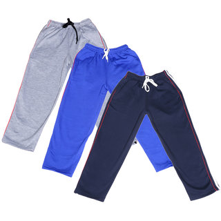 IndiWeaves Boys Premium Cotton Warm Full Length Lower/Track Pant with 2 Open Pocket For Winter (Pack of -3)
