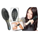Battery Powered Vibrating Hairbrush And Body Massager