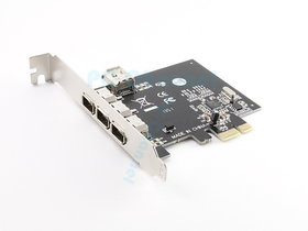 PCIE PCI-E FIREWIRE IEEE 1394 3+1 4 PORT EXPRESS CARD WORKS WITH WIN 7 32/64 NEW