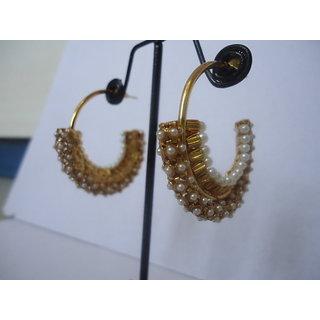 Gold Baliyan with Pearls