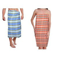Summer Cool 100% Cotton Pack Of 2 Bath Towels