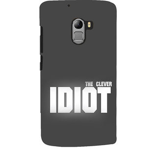 Snapdilla Unique Simple The Clever Idiot Best Classic Quote Grey Color  Background Phone Case For Lenovo