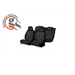 GS-Sweat Control Black Towel Car Seat Cover For Mahindra Quanto (7-Seater)