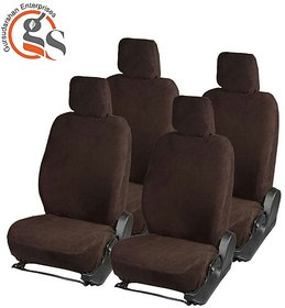 GS-Sweat Control Coffee Towel Car Seat Cover For Chevrolet Enjoy (7-Seater)