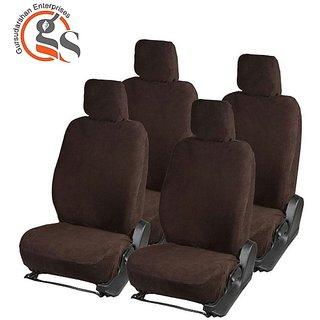 GS-Sweat Control Coffee Towel Car Seat Cover For Tata Indica Ev2