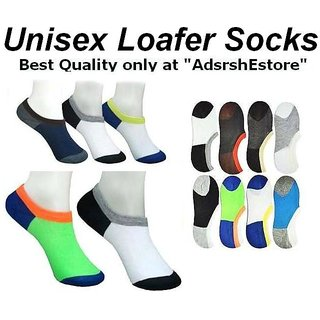 Loafer Socks/ Low Cut Socks Stripes Design unisex socks 12 Pairs CODEDR-5020
