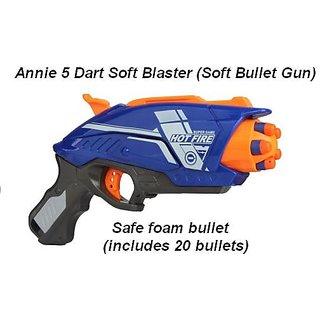 Soft Bullet Gun Hot Fire 5 Dart Soft Blaster by Annie CODEDV-3099