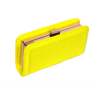 Soulmatez Yellow Clutch for Girl's and Women's for carrying in party's