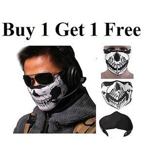 Anti pollution face mask / Bike riding mask Skeleton Style Buy 1 get 1 Free CODEDu-6385