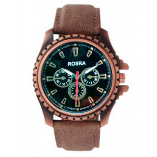 Rosra Copper Stylish Analog Metal Watch for Men's