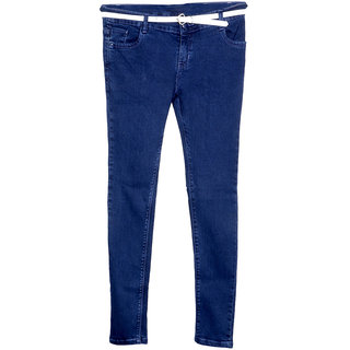 IndiWeaves Girls Casual Slim Fit Denim Jeans