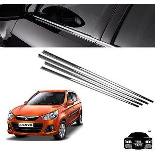 Buy Trigcars Maruti Suzuki Alto K10 Car Window Lower Garnish Chrome