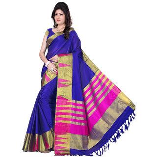 kanak new designer blue color5 cotton saree