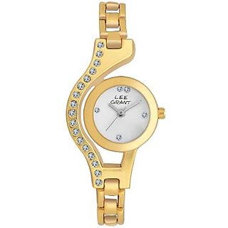 Lee Grant Golden Dial Analog Watch For Women's BY MISS