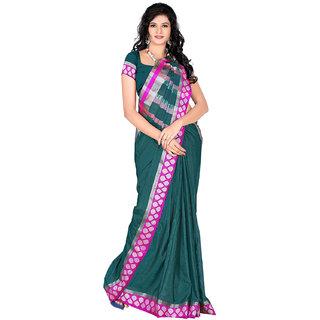kanak new designer green color cotton saree