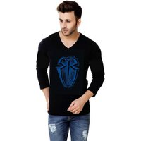 Trendmakerz Men's Black Round Neck T-Shirt