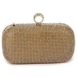 Aurario gold  diamond stylish clutch