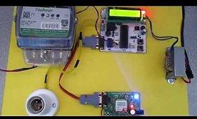 Prepaid energy meter with gsm notification