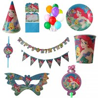PEPUP Ariel Themed Kids Birthday Party Decoration Combo