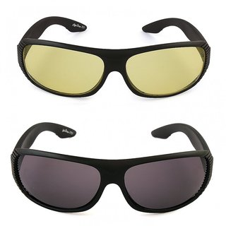 Pack of 2 Day Night Vision Riding glasses Anti Scratch Coated driving glasses