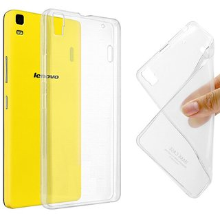 Soft Silicon Transparent Back cover for Lenovo K3 Note