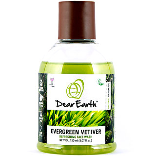 Dear Earth Evergreen Vetiver Refreshing Organic  Vegan Face Wash, 150ml