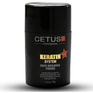 CETUS Keratin Hair Building Fiber (Made from Organic Keratin Protein) (Black) - 25 Off
