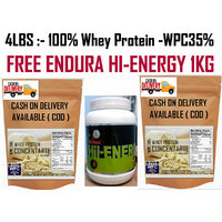 4Lbs-100% Whey Protein Concentrate Instantized WPC35%-FREE ANS GLUCOSE 1KG 400RS